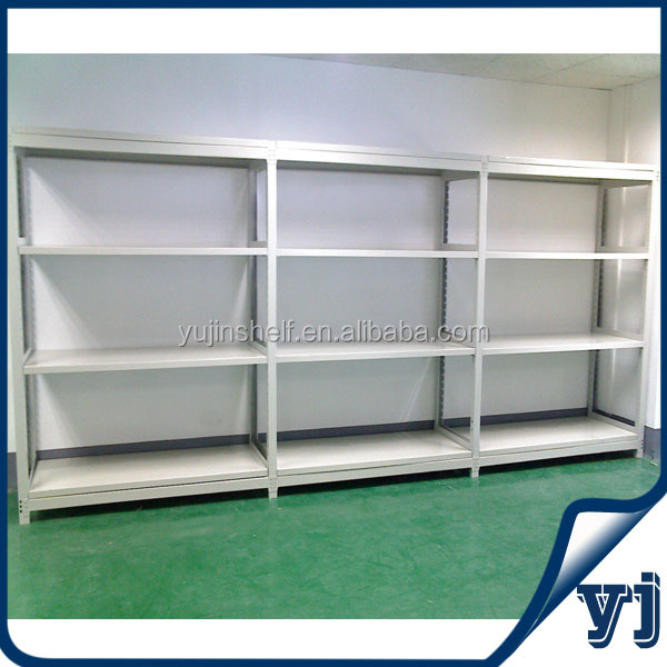 Commercial bolted steel auto parts storage rack used in warehouse, office