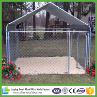 5'X10' shed row style metal tube dog kennel with roof shelter and 2 dog runs