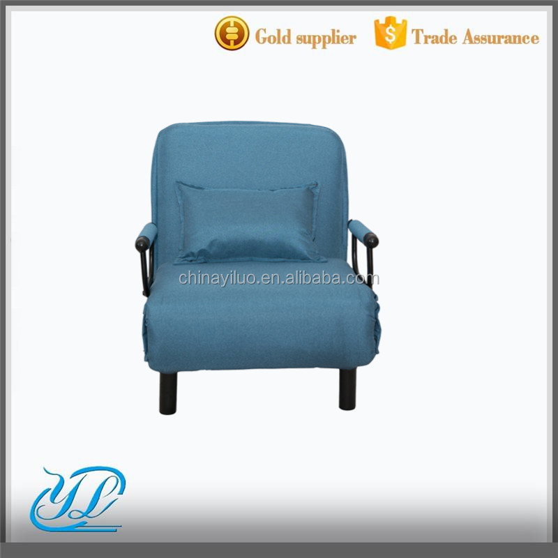 YLCT015 New Design Hot Selling Simple Folding Single Chair Arm Bed Sofa