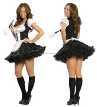Wholesale cheap nude hot image sexy french latex french maid costume halloween costume