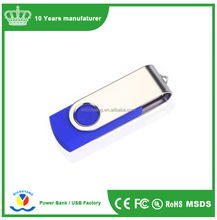 Promotional Swivel metal clip USB Flash Drive with Custiomized Logo
