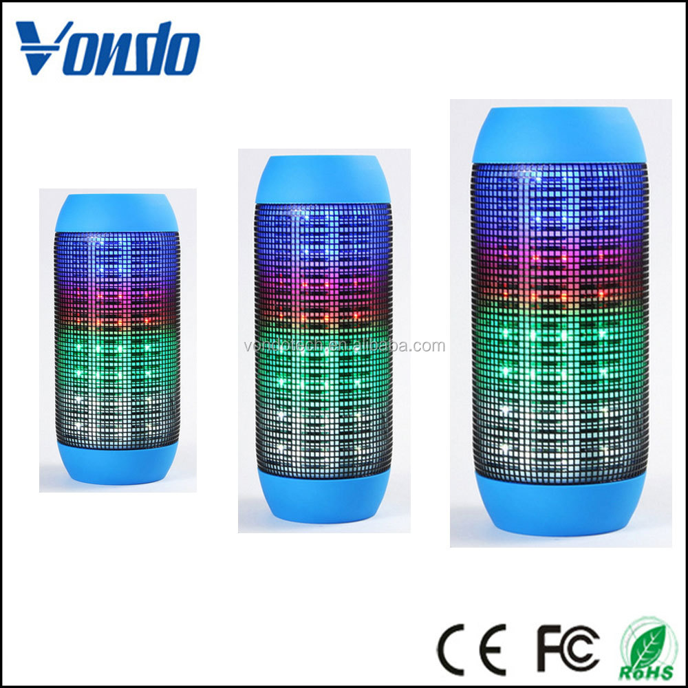 Vondobluetooth speakers, Bluetooth Wireless Speaker / Colorful LED Light Subwoofer HIFI Speaker Support USB TF Card