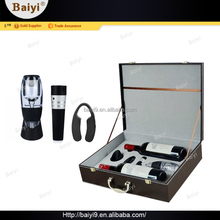 Best quality wine tool portable wine carrier with leather box