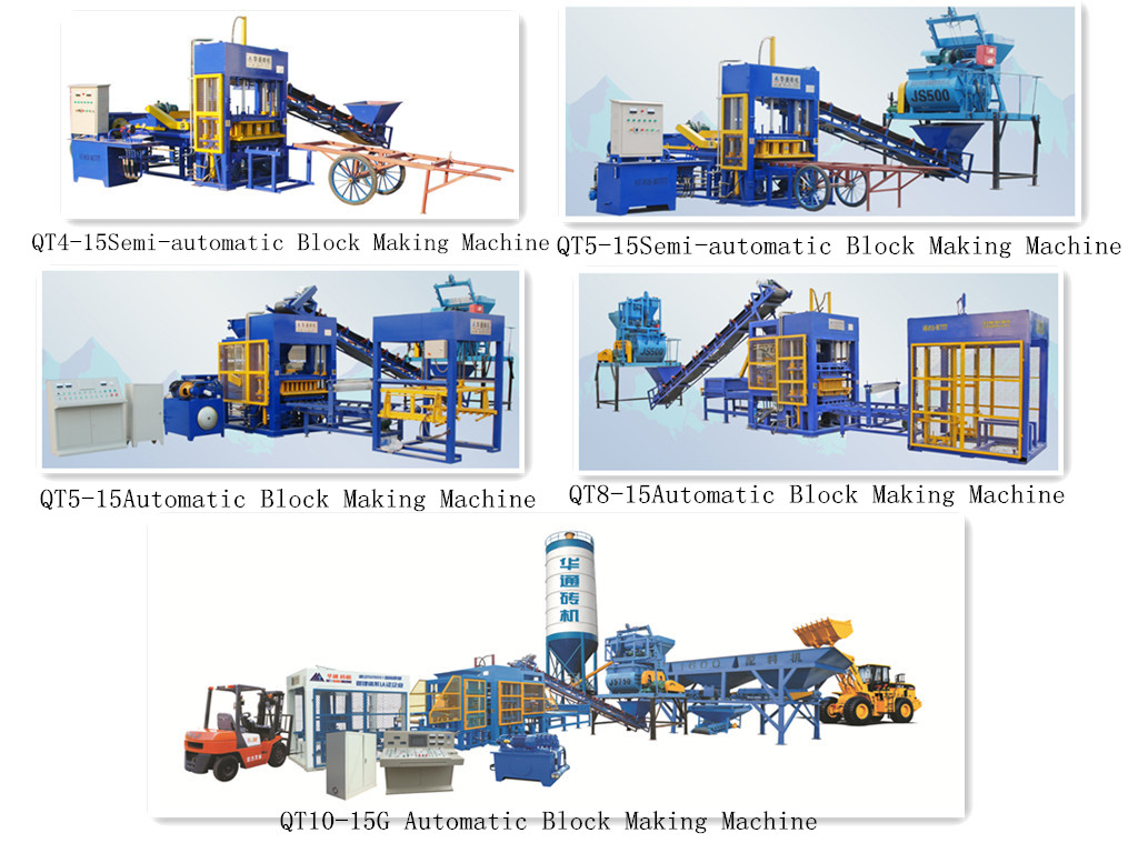 QT8-15Automatic Baking-free Brick Machine Brick Making Machine