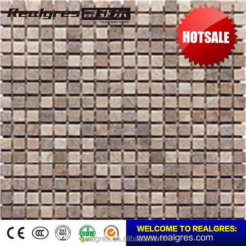 New model competitive natural marble stone mosaic tile mat