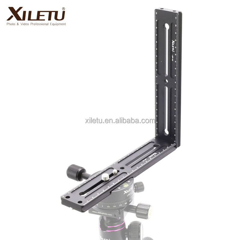 XILETU LSP-20X2 Multi-function Lengthen Plate For Panoramic Tripod Head Camera Tripod Clamp with mounting plate +1/4 screws