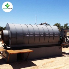 Xinxiang Huayin 1T to 10T Semi Continuous Waste Tyre(Plastic) Pyrolysis Plant Recycling Machine To Oil Sold to 56 Countries
