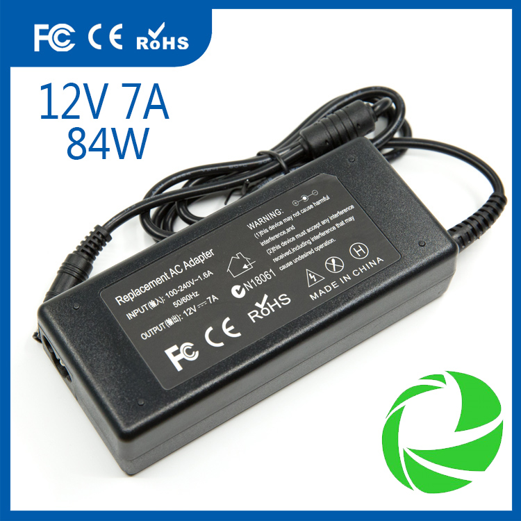 12V 7A 84W ac dc power adapter 5.5*2.5mm lcd power adapter cctv power supply