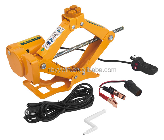 2 Ton Electric Scissor Car Jack with 12V Cigarette Adapter