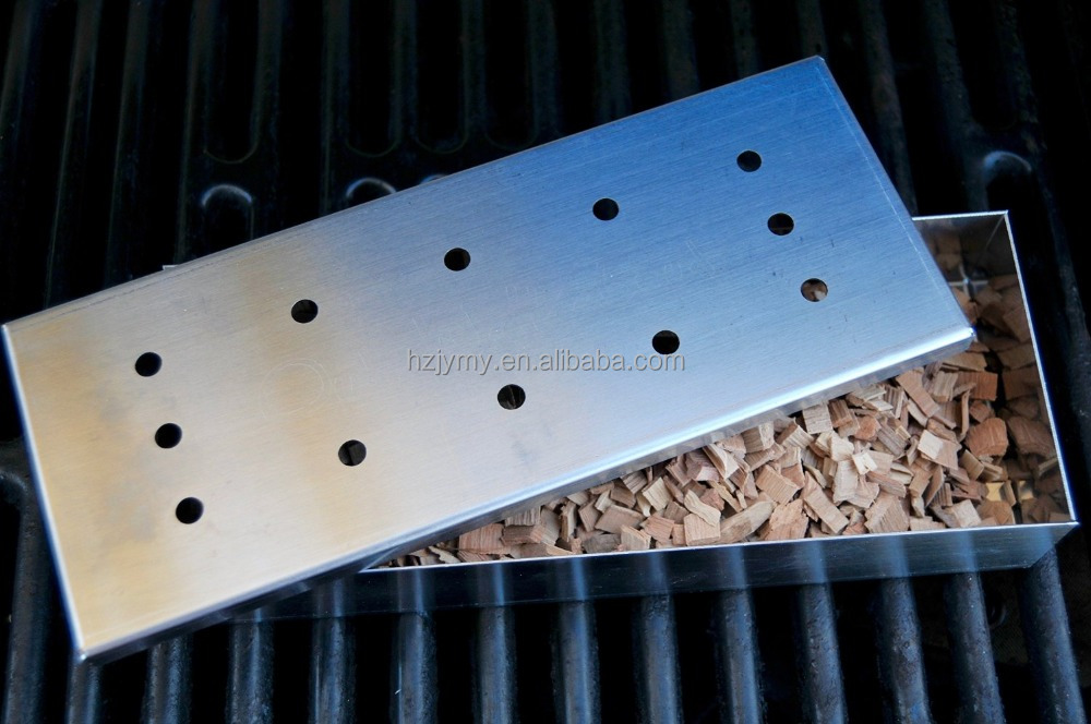 Stainless Steel Smoker Box for BBQ Grilling and Smoking with Wood Chips