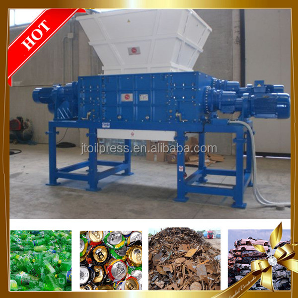 widely used plastic rubber wheel glass recycling small waste scrap metal shredder for sale