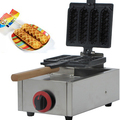 Hot Sale Commercial Use Non-stick 4pcs LPG Gas Lolly Waffle Dog Stick Machine
