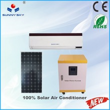 CE ROHS 12000btu hybrid solar air conditioner price 100% solar powered car air conditioners