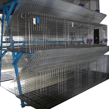 galvanized steel material and rabbit use battery layer rabbit cages