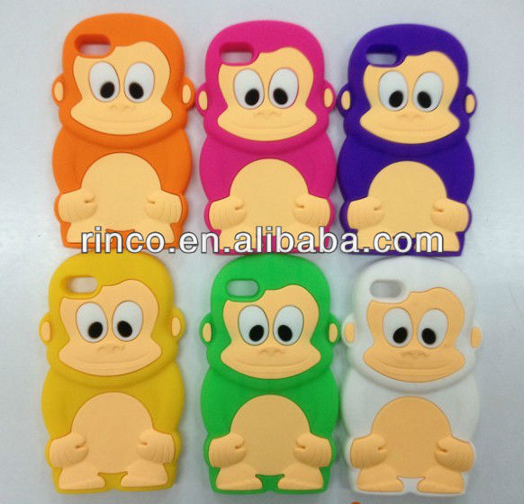 New Lovely 3D Monkey King Silicone Soft Case Cover For ipod touch 4 4G 4TH GEN