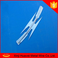 14 gauge electric galvanized razor barbed wire for fence