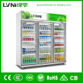 mobile glass door restaurant/supermarket/shop commercial freezer