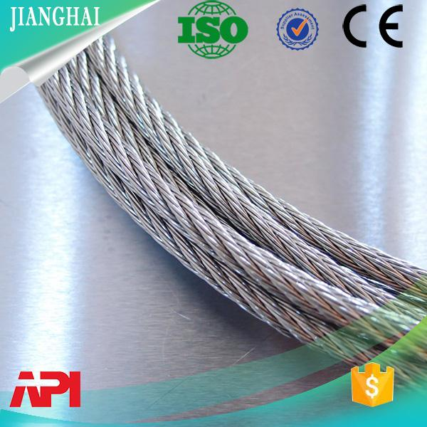 galvanized aircraft stainless steel wire rope used in erosion control