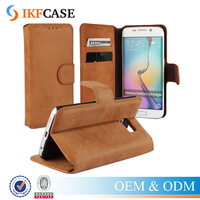 Luxury Flip Leather Cell Phone Case for Samsung Galaxy S6 Edge G9250 Book Style Leather Stand Cover