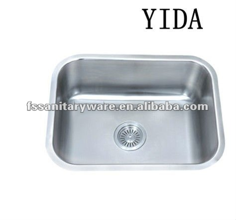 stainless steel single sink kitchen accessory