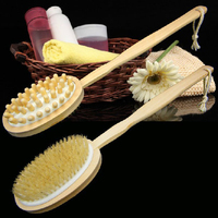 2016 hotsale Wood long handle body back wash brushes for scrubber back