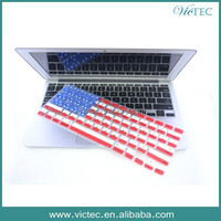 USA flag design for Macbook pro keyboard cover,silicone laptop keyboard skin