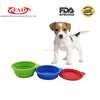 2016 new design food grade silicone portable pet dog bowl