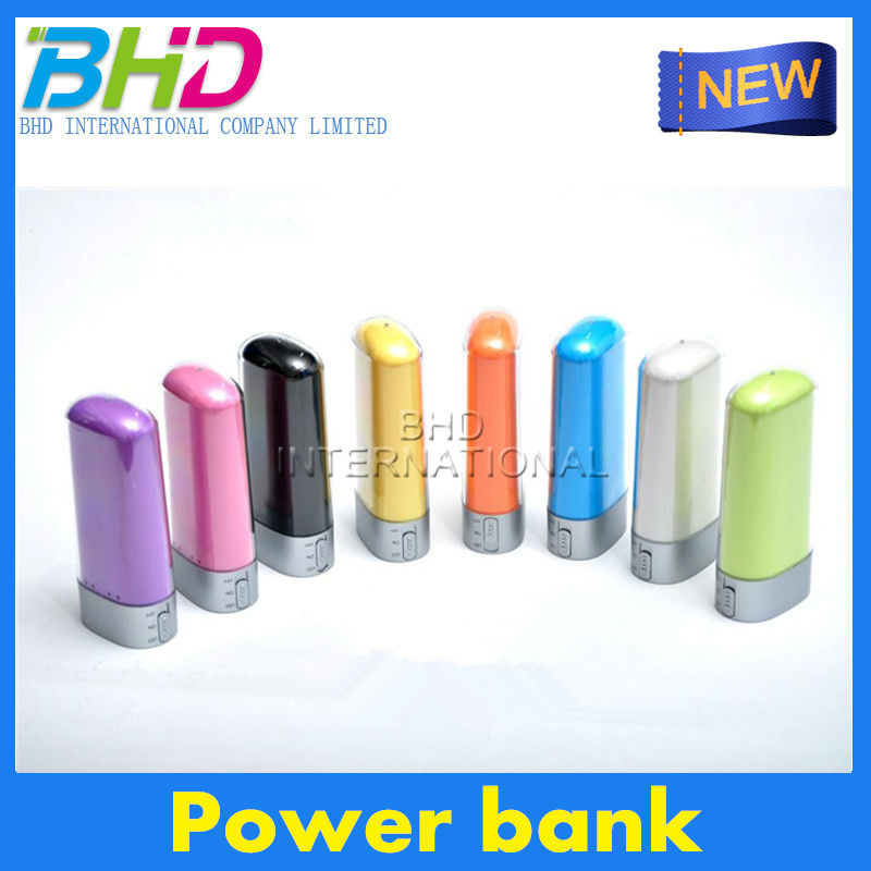 Promotional power bank dmtek with led hand lamps mobile portable power bank