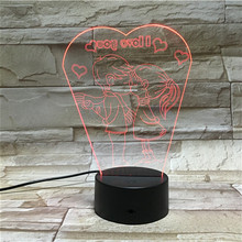 Exporter hot sale with low price durable 3d illusion gift light