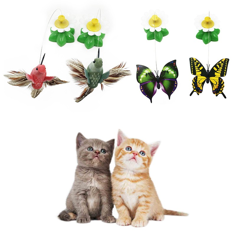 Pet Cat Toy Cute Design Bird Feather Teaser Wand Plastic Toy for Cats Color Multi Products For pet