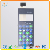 Transparent Window Tactile Membrane Keyboard Membrane Switch Panel For Home Appliance Application