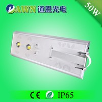 50W Sunpower COB long lifespan integrated all in one solar led street light with halogen bulb photocell for case
