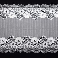 factory price with customized color for Spandex lace trim