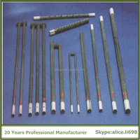 Industrial Heater Silicon Carbide Heating Elements Electric Sic Rod