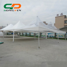 Wholesale Luxury Decorated Outdoor Double peak tension fabric tent with 50 seated for garden party