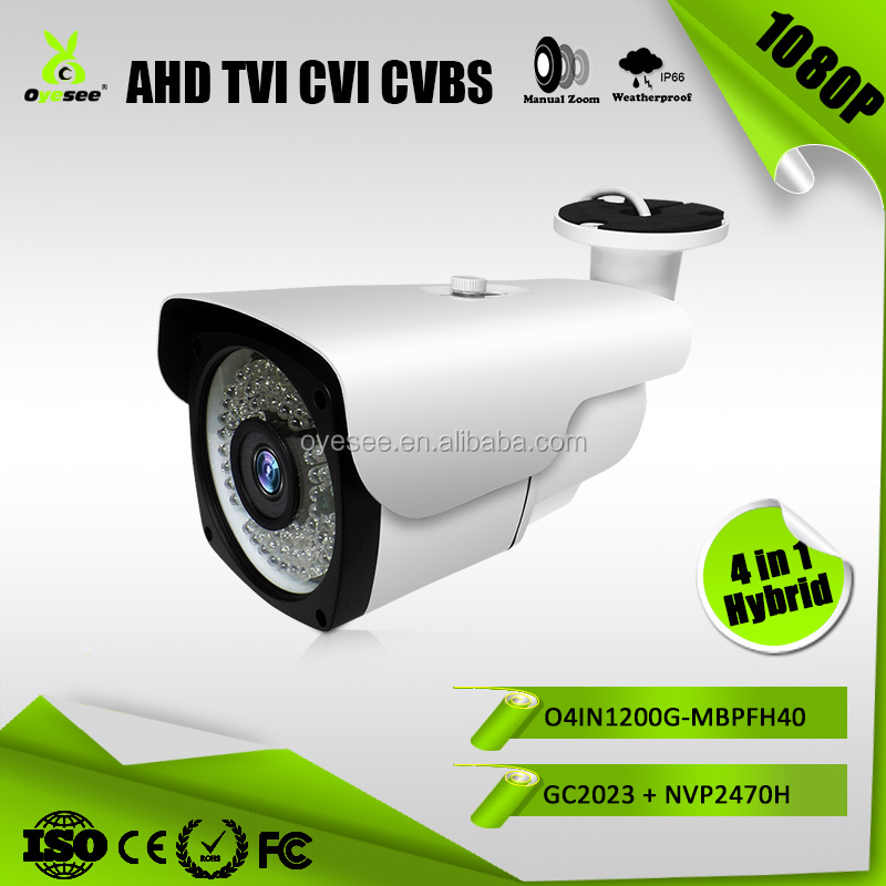 1080P Hybrid 4 in 1 surveillance camera equipment with 40m ir distance 36pcs ir lens outdoor O4IN1200G-MBPFH40