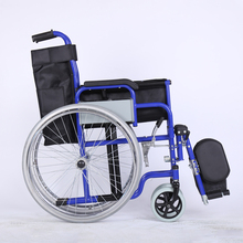 Easy installation hospital aluminum manual foldable remote wheelchair with low price