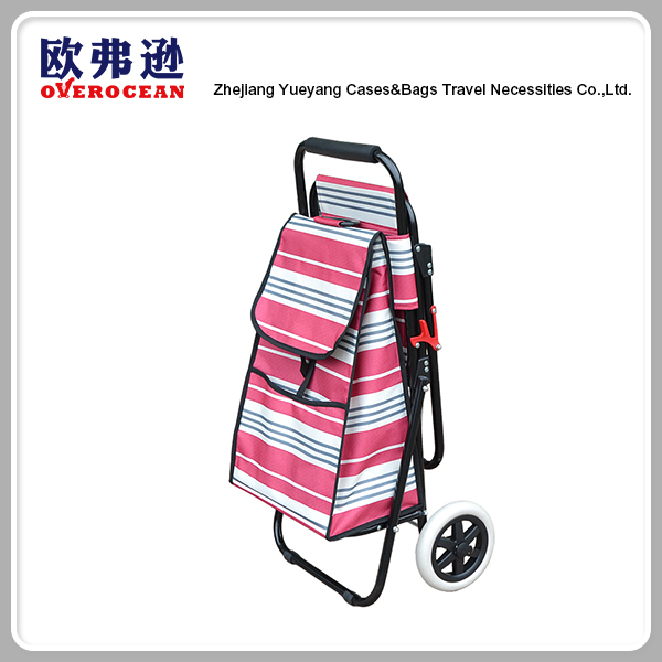 YY-34XB-1 Hot sale exports China fabric fishing chair trolley bag folding shopping cart with seat
