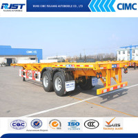 40ft Skeleton Container Transport Trailer With