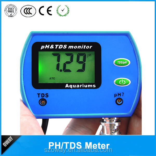 PH TDS monitor correction ph meter in aquariums