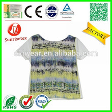 New design cheap beautiful t-shirt for women factory
