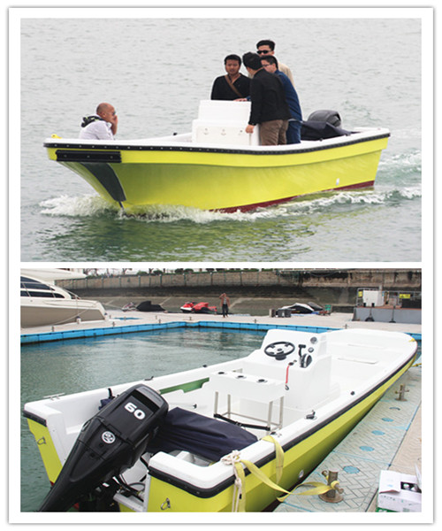 All New FRP Hull and Desk Fibergalss Fishing Boat for Sale