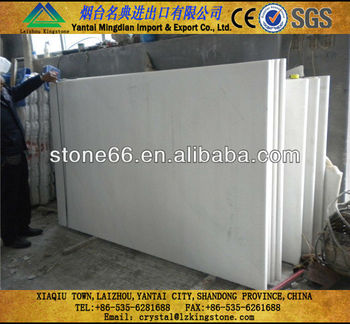 Laizhou Snow white marble slab