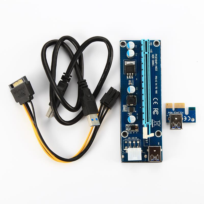 Top Seller VER 006C pcie x16 pci express video card with 60cm USB3.0 cable