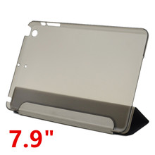 "7.9"" Ultra Slim Tri-Fold PU Leather Case with Crystal Hard Back Smart Stand Case Cover for iPad mini 1 2 3 tablet Flip Cover"