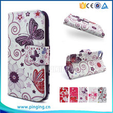 Colorful printing pu leather case flip cover for Yotaphone 2 for other mobile phone