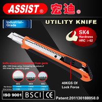 9mm blade SK4 blade utility knife pocket knife ABS+TPR case cutter quality guaranteed snap-off knife Stationery Cutter