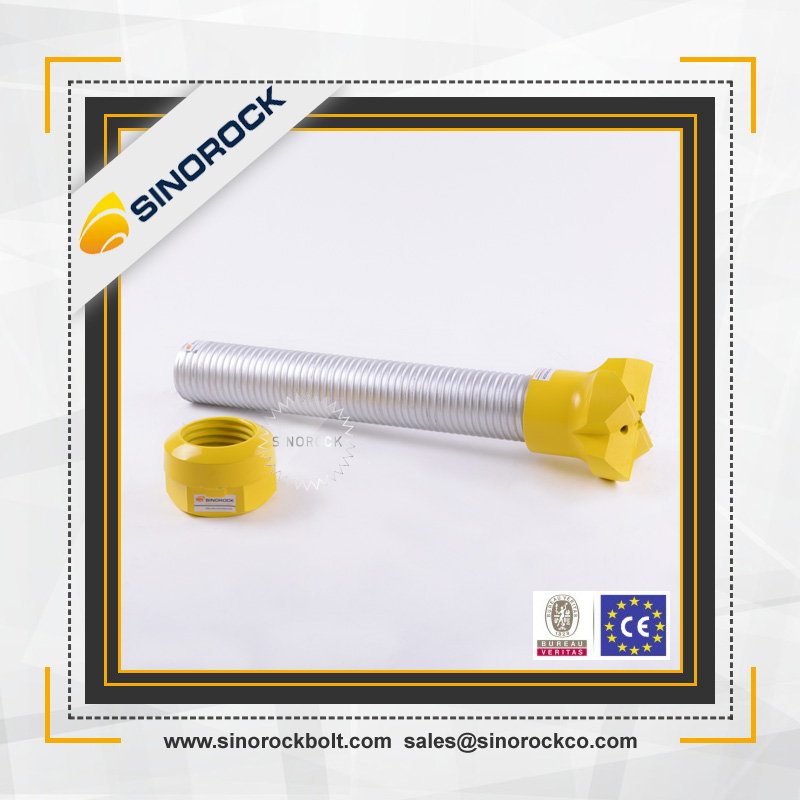 SINOROCK Reliable and convenient Soil nail wall reinforced anchoring system injection hollow bar