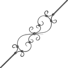Italian style and clear texture 5040 sereda outdoor wrought iron panel railing balusters for stair and balconie used