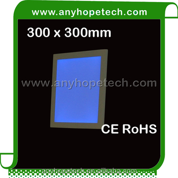 Ultra thin design thickness 10,4mm 300 300mm 13W rgb outdoor waterproof led light panel